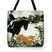 Dressage Roses Tote Bag