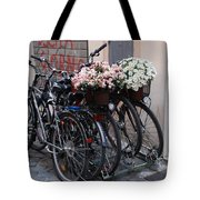Dressing Up The Bicycle Stand Tote Bag
