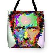 Dr. House Portrait - Abstract Tote Bag