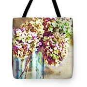 Dried Autumn Hydrangeas - Digital Paint Tote Bag