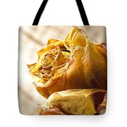 Dried Yellow Rose Tote Bag