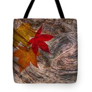 Drifting Autumn Leaves Tote Bag