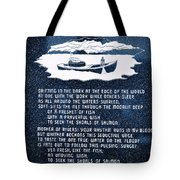 Drifting In The Dark Tote Bag