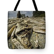 Driftwood And Sea Stacks On Ruby Beach Tote Bag
