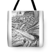 Critter In The Driftwood  Tote Bag
