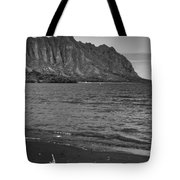 Driftwood-black And White Tote Bag