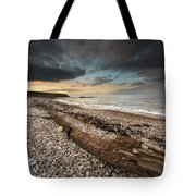 Driftwood Laying On The Gravel Beach Tote Bag
