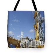 Drillship Deck And Tower Tote Bag