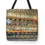 Drinks On The House In Smoky Gold Tote Bag