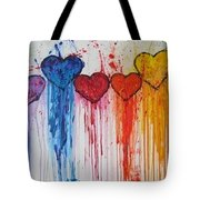 Dripping Hearts Tote Bag