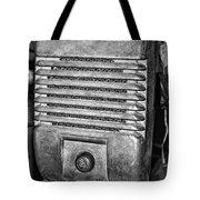 Drive In Movie Speaker In Black And White Tote Bag