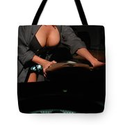 Drivers View Of A Pinup Girl Tote Bag