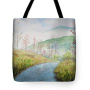 Driving Down The Mountain Tote Bag