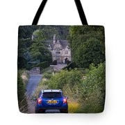 Driving To Manor House Tote Bag
