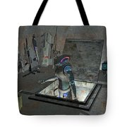 Droid Discovering A Weapons Cache Tote Bag