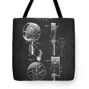 Droop Hand  Drum Patent Drawing From 1892 - Dark Tote Bag