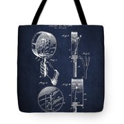 Droop Hand  Drum Patent Drawing From 1892 - Navy Blue Tote Bag
