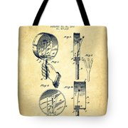 Droop Hand  Drum Patent Drawing From 1892 - Vintage Tote Bag
