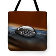 Drop On A Bluejay Feather Tote Bag