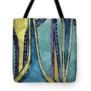 Droplet Ornaments In Navy Blue And Gold Tote Bag