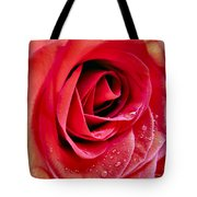 Droplets In Red Tote Bag