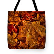 Droplets Of Autumn Tote Bag