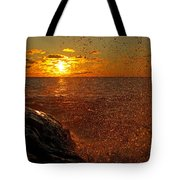 Droplets Of Gold Tote Bag