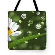 Drops Of Spring Tote Bag