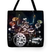 Drum Machine - The Band's Engine Tote Bag by Alessandro Della Pietra
