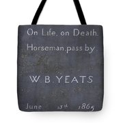 Wb Yeats -one Of Irelands  Greatest Poets Tote Bag