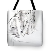 Dry Brush Painting Of A Young Womans Face Tote Bag