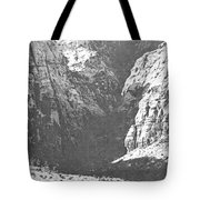 Dry Desert Waterfall Pencil Rendering Tote Bag