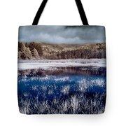 Dry Lagoon Blues Tote Bag