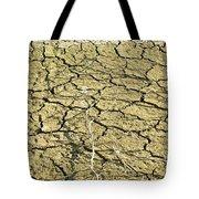 Dry Soil In Lake Bottom During Dryness Tote Bag