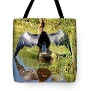 Drying Her Wings Tote Bag