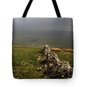 Drystone Wall  Misty Day Kettlewell Wharfedale North Yorkshire England Tote Bag