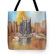 Dubai Marina Complex Tote Bag