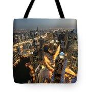 Dubai Marina Twilight Tote Bag