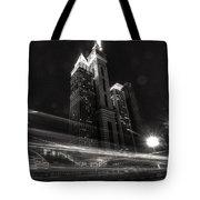Dubai Night Street Rush Tote Bag