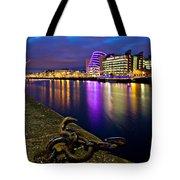 Dublin Docklands At Night / Dublin Tote Bag by Barry O Carroll