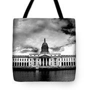 Dublin - The Custom House - Bw Tote Bag