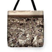 Dubrovnik Rooftops And Lokrum Island Against The Dalmatian Adriatic Sepia Tote Bag