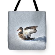 Duck Angel Tote Bag