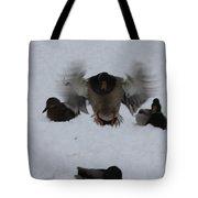 Duck Crash Landing Tote Bag