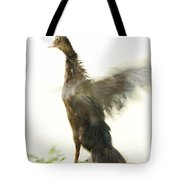Duck Flapping Wings Tote Bag