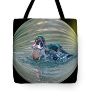 Duck In A Bubble  Tote Bag