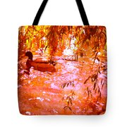 Duck In Warm Light Tote Bag