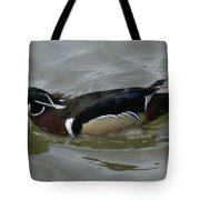 Angry Wood Duck Tote Bag