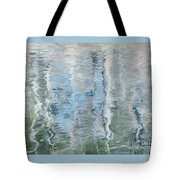 Duck On Pond, Abstract Tote Bag