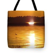 Duck On Sunset Tote Bag